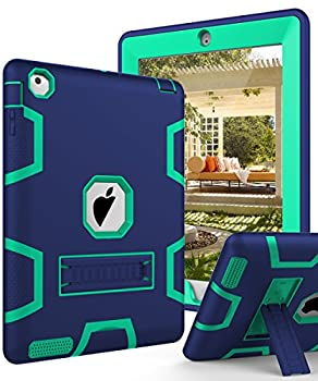 TIANLI Case for iPad 8th Generation 7th Gen Cover iPad 10.2 2020/2019 Built-in Screen Protector Full-Body TPU Bumper Protective Case with Kickstand for iPad 10.2 Inch- Navy Blue Mint