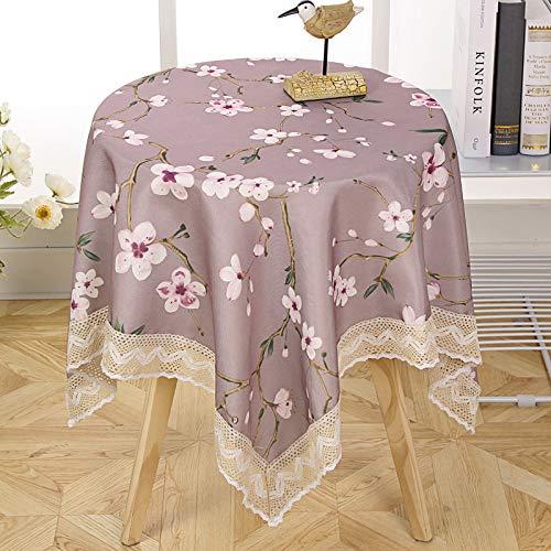 marca blanca Mantel de algodón a cuadros para mesa de cocina, 140 x 190 cm