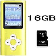 Btopllc MP3 Player MP4 Player Musik Player 16GB interne Speicherkarte Digital und kompakte MP3 / MP4 Musik Player, Video, Ebook Musik Player (Grün)