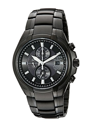 Citizen Men's Eco-Drive Titanium Chronograph Watch with Date, CA0265-59E