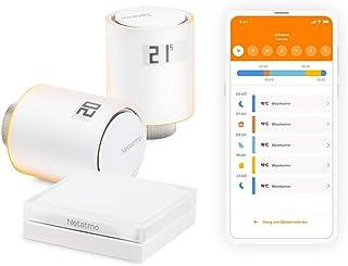 Netatmo Startpaket – Smart Uppkopplad Termostat, Paket för kollektiv uppvärmning, NVP-EN