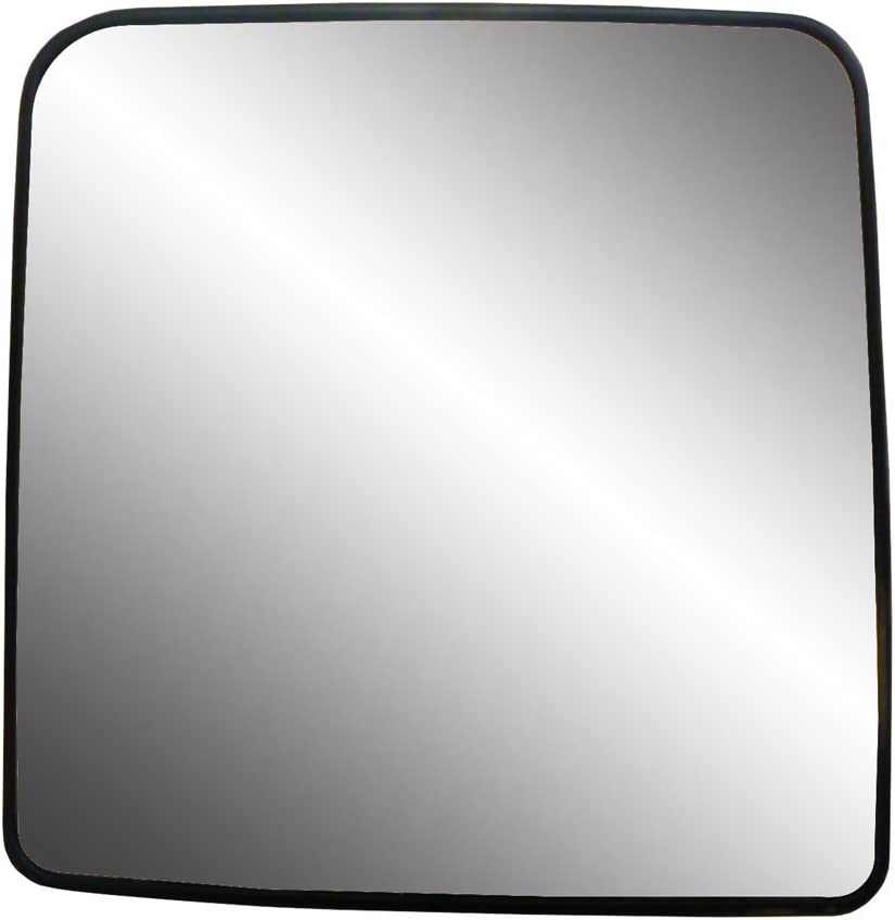 Fit System Driver Side Heated Mirror Glass w//Backing Plate Wrangler JK 6 5//16 x 6 1//8 x 8 1//8 Jeep Wrangler