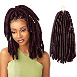 ISHINE 12 Inch Soft Dread Crochet Hair (Red Wine, 15 strands/pack) - Authentic Synthetic Dreadlock Extensions for braids For Black Women - Faux Locs Crochet Hair - Afro Hair Extensions For Braids