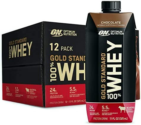 Optimum Nutrition Gold Standard 100 Whey Protein Shake Ready to Drink Gluten Free 24g Protein product image