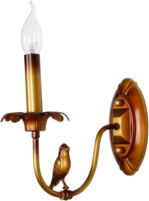 Amerikanischen Europischen Stil Rustikale Lodge Gold Vogel Wandlampen Wandlampen Wohnzimmer Schlafzimmer Shops Cafés Metall Retro Wandleuchte,Singlehead