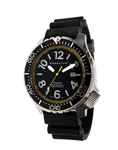 Torpedo Blast Sapphire - Reloj de buceo profesional de Momentum Watches para hombre, 200 m, resistente al agua, acero inoxidable 316L, 5 años de duración