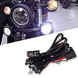 Win Power Universel LED Kit de relais de commutation de faisceau de câblage avec 2 connexions de lampe pour moto Lumières de conduite Lampes de travail auxiliaires, 1 Pièce