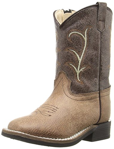 Old West Kids Boots Square Toe Vintage (Toddler) Tan 5 Toddler M