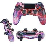 QLOVE Mando Inalámbrico para PS4, Gamepad Wireless Bluetooth Controlador Joystick con Vibración Doble Remoto, Controlador inalámbrico, Mando para Playstation 4/PS4 Pro/Slim,Red Sky