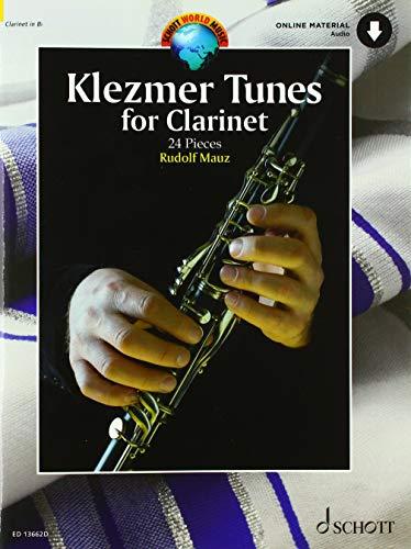 Klezmer Tunes for Clarinet: 24 Pieces. Klarinette und Klavier. Ausgabe mit Online-Audiodatei.