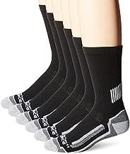 Carhartt Men's Force Performance Work Socks 3 Pair Pack, Black (6 Pack), Shoe Size: 6-12