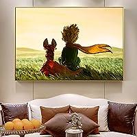 CHBOEN 装飾画 物語のポスターとプリントキッズルームの壁アートキャンバス絵画子供部屋の装飾のための漫画の絵 60x90cm