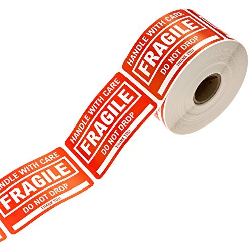 """2"""" x 3"""" Fragile Stickers Handle with Care Shipping/Packing Label"""