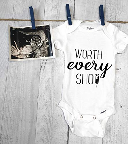 Worth Every Shot, Pregnancy Announcement Onesie, IVF Pregnancy Announcement