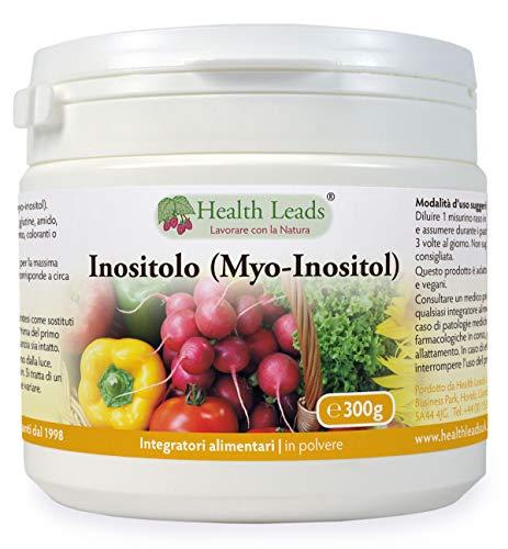Inositolo (mio-inositolo) in polvere 300g, Chiamato anche vitamina B8, Alto assorbimento, VEGAN, Senza magnesio stearato o cattivi additivi, NON-OMG, Includi Scoop gratuito,Prodotto in Galles