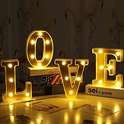 Light Up Letters,Neon Number Sign Wall Decorative Neon Lights Warm White Letter Lights Night Lamp for House Bar Pub Hotel Kids Room, Living Room, Birthday Wedding Party Decor (Love)