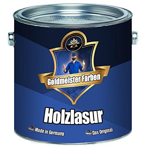 Goldmeister Farben Holzlasur meisterhafte Lasur in 12 verschiedenen Farbtönen Holzöl für Pflege von Holz (5 L, Pinie)