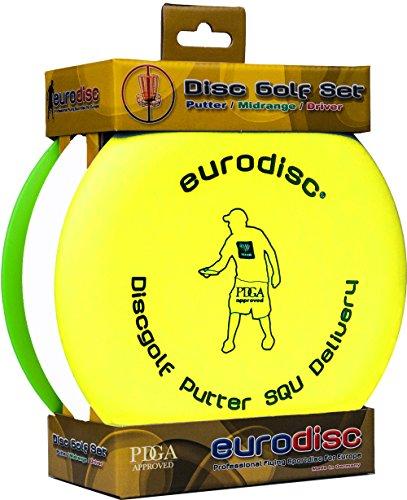 Eurodisc Disc-Golf Einsteiger Starterset, PDGA approved, Putter Midrange Driver Disc