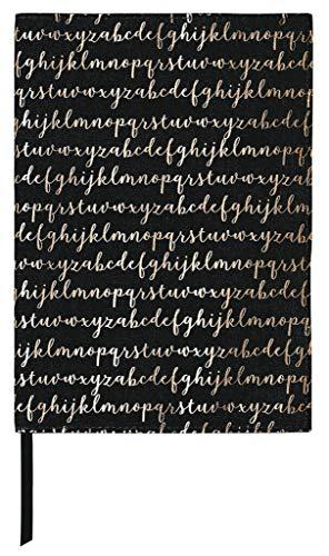moses. Buchumschlag mit Lesebändchen | libri-x Buchhülle aus Baumwolle | Umschlag für die Lektüre | Alphabet | Größe L