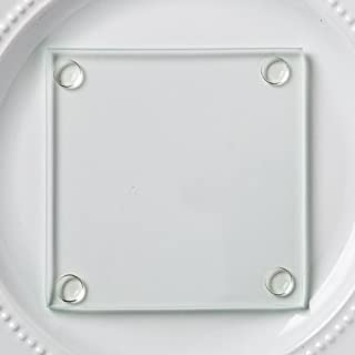 Best square glass coasters Reviews