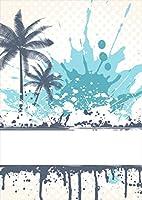 igsticker ポスター ウォールステッカー シール式ステッカー 飾り 841×1189㎜ A0 写真 フォト 壁 インテリア おしゃれ 剥がせる wall sticker poster 007561 クール 植物 インク ペンキ 水色