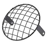 EBTOOLS 7' faro moto griglia di montaggio laterale protezione universale della mascherina della protezione della copertura per Cafe Racer(nero)