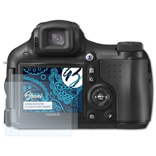 Bruni Schutzfolie kompatibel mit Fujifilm FinePix S6500FD Folie, glasklare Displayschutzfolie (2X)