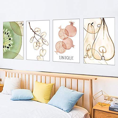 DONGJI Pegatinas Pegatinas de Pared decoración Tridimensional 3D Papel Tapiz de la habitación Pared del Dormitorio sofá de Frutas Pared de Fondo