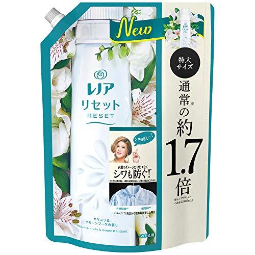 レノア リセット 柔軟剤 衣類のシワ&ダメージを防ぐ ヤマユリ&グリーンブーケの香り 詰め替え 大容量 約1.7倍(795mL)
