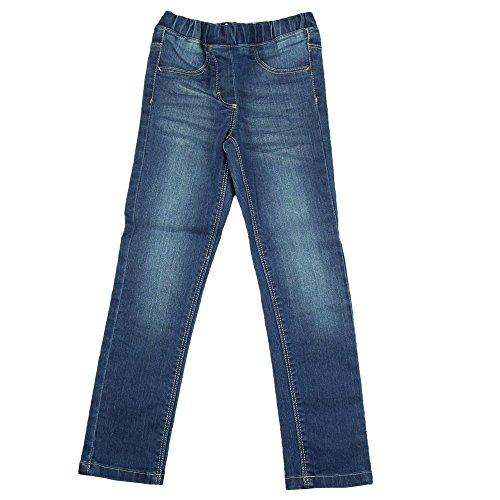 Minymo Minymo Mädchen Jeans mit gerade slim fit und washed Denim look, Blau (Denim 777), 92 (Herstellergröße: 92)