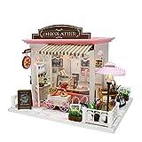 lijun DIY Mini Dollhouse Set Kit de casa de muñecas en Miniatura con Luces LED y Muebles