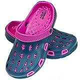 Aqua Speed Zapatillas de baño Silvi para niños y Adolescentes, Color:Navy/Púrpura, Talla de Zapatos de baño:25
