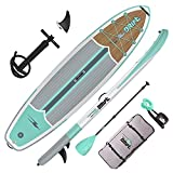 Drift 11'6' Inflatable Stand Up Paddle Board, SUP with Accessories | Coiled Leash, Pump, Lightweight Paddle, Fin & Backpack Travel Bag (Classic)