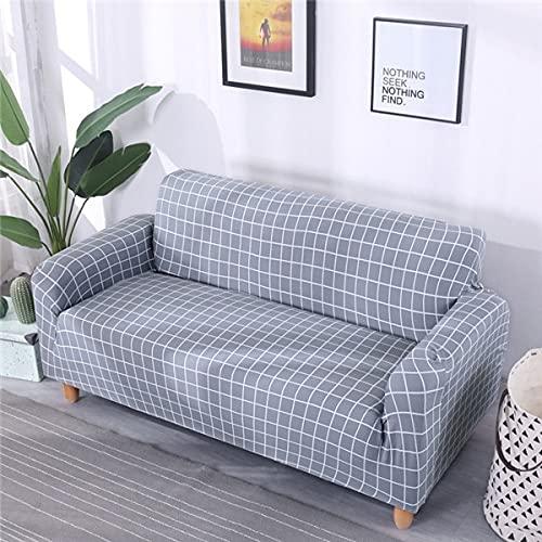 WXQY Funda de sofá Universal Funda de sofá de Spandex Funda Protectora Funda de Muebles Lavable Funda de sofá Envuelta herméticamente A2 3 plazas