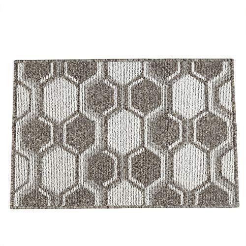 NA. Indoor, Outdoor Doormat, Non-Slip Rubber Entrance Door Mat, Welcome Entrance Way Rug, Geometric Design, Machine Washable (24