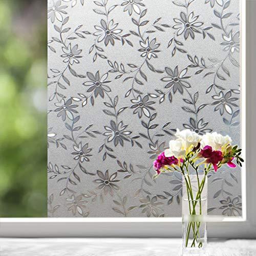 BLSTY privacy statische folie raamfolie, ondoorzichtig anti-UV heat control glasfilm voor badkamer slaapkamer kantoor raamsticker