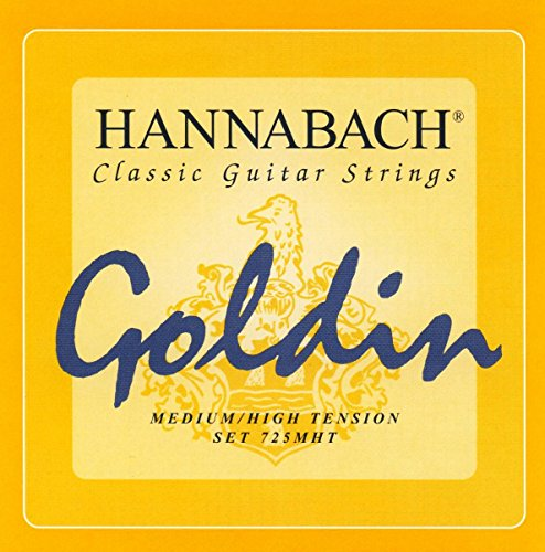 CUERDAS GUITARRA CLASICA - Hannabach (725/MHT) Goldin Super Carbon (Juego Completo)