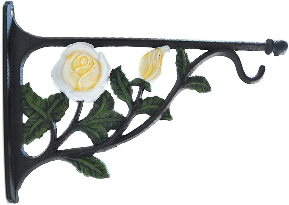 ZPENG Wall Hanging Brackets Max 89% Max 50% OFF OFF 11.4inch Gard Outdoor Iron Cast Rose