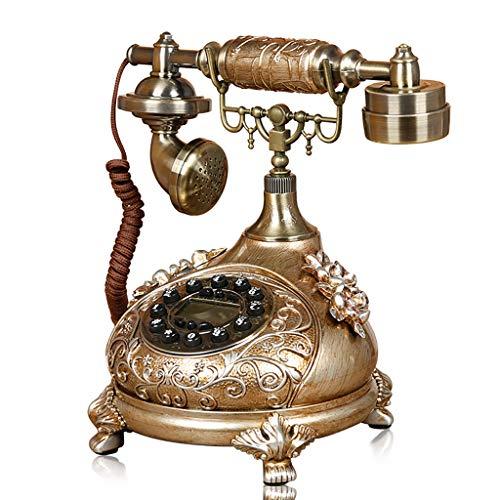 ZARTPMO Teléfono Antiguo Retro de Madera imitada de Resina, teléfono Antiguo de Escritorio para el hogar/Hotel/Oficina