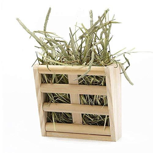 Vektenxi Meerschweinchen Hay Feeder Rack, Kaninchen Mess-Free Alfalfa Dispenser, Hay Manger Rack für Kleintierholz Farbe Langlebig und praktisch