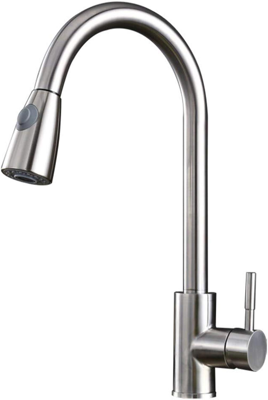 S+S Küchenarmatur einzigen Griff Waschbecken Wasserhahn Nickel gebürstet Küchenspüle Wasserhahn heien und kalten Wasser Mixer