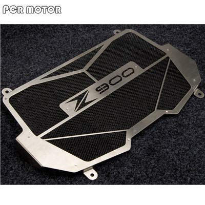 YUQINN Moto Partes Partes for Moto cubierta protectora del radiador de acero inoxidable 304 Parrilla protector For Kawasaki Z900 Nuevo Accesorios (Color : Black)