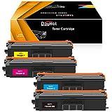 Dayhot TN321 TN326 Cartucho de Tóner Compatible para Brother HL-L8250CDN HL-L8350CDW DCP-L8450CDW MFC-L8850CDW DCP-L8400CDN MFC-L8650CDW MFC-L8600CDW(1 Negro,1 Ciano,1 Magenta,1 Amarillo)