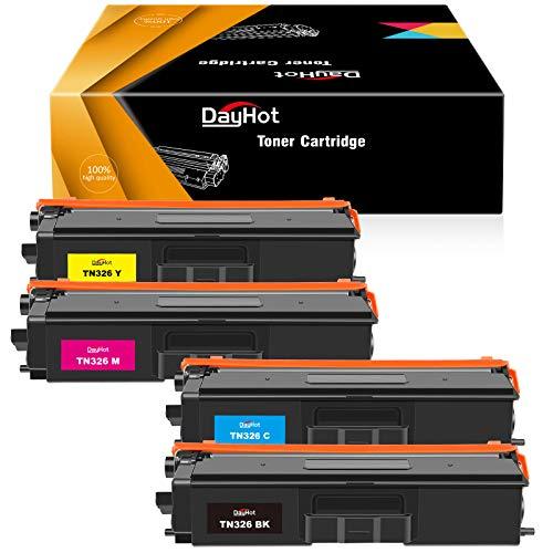 Dayhot TN321 TN326 Kompatible Tonerkartusche für Brother HL-L8250CDN HL-L8350CDW DCP-L8450CDW MFC-L8850CDW DCP-L8400CDN MFC-L8650CDW MFC-L8600CDW(1 Schwarz,1 Cyan,1 Magenta,1 Gelb)