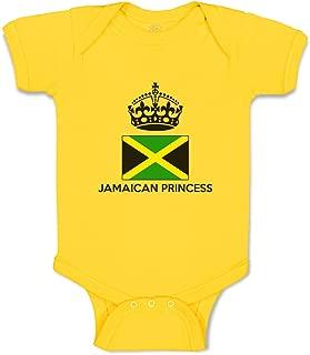 Custom Boy & Girl Baby Bodysuit Jamaican Princess Crown Cotton Baby Clothes