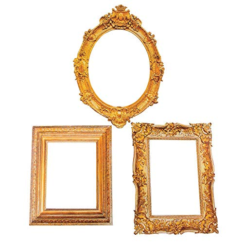 Antique Looking Cardboard Picture Frame Cutouts ( 3 Pieces) Perfect for Wedding and Party Decor