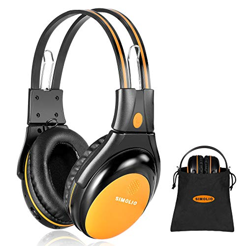 SIMOLIO Vehicle Headphones with Adjustable Volume Limiting for Kids, Dual Channel Car DVD Headsets, Wireless Infrared Headphone for Universal Car DVD System, Cordless Car Headphones with AUX Cord