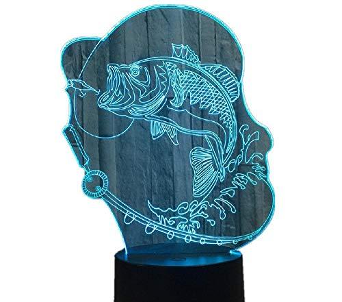 Bubble Fish 3D LED-lamp in meerdere kleuren veranderen van de USB-laadknop Touch-toets tafellampen geschenken voor kinderen lava-lamp babykamer lamp deco remote telefoon Bluetooth control kleur