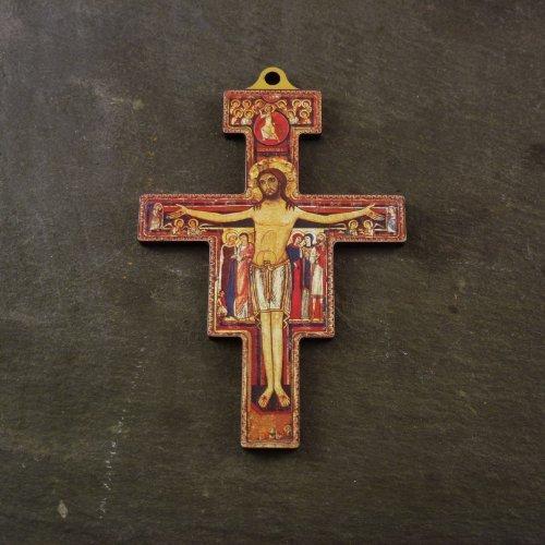 R Heaven Christliche 14,5 cm Wand-Franziskus von Assisi Kreuz aus Holz