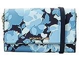 Michael Michael Kors - Bolso para mujer, diseño de cruz, Azul marino (Floral azul marino), Talla única
